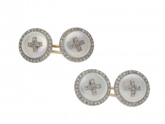 diamond and mother of pearl cufflinks berganza hatton garden