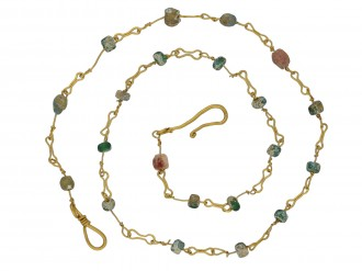 Ancient Roman glass bead necklace berganza hatton garden