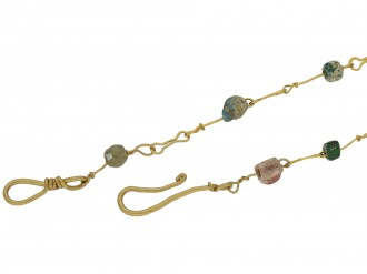 Ancient Roman glass bead necklace berganza hatton garden
