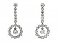 Diamond drop earrings 1950 hatton garden