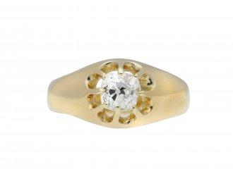 Cushion shape solitaire diamond ring berganza hatton garden