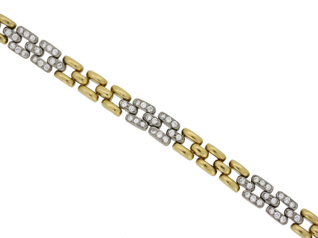 front view Cartier Paris diamond bracelet, French circa 1970s.