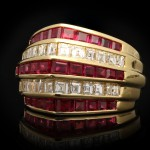 Oscar Heyman Brothers ruby and diamond ring, American, circa 1940.