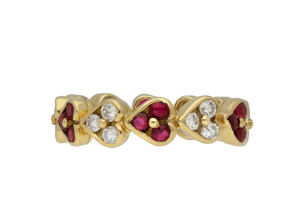 Vintage ruby and diamond eternity ring berganza hatton garden