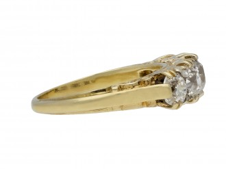 Antique diamond five stone ring hatton garden