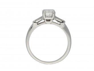 Emerald cut diamond ring, American hatton garden