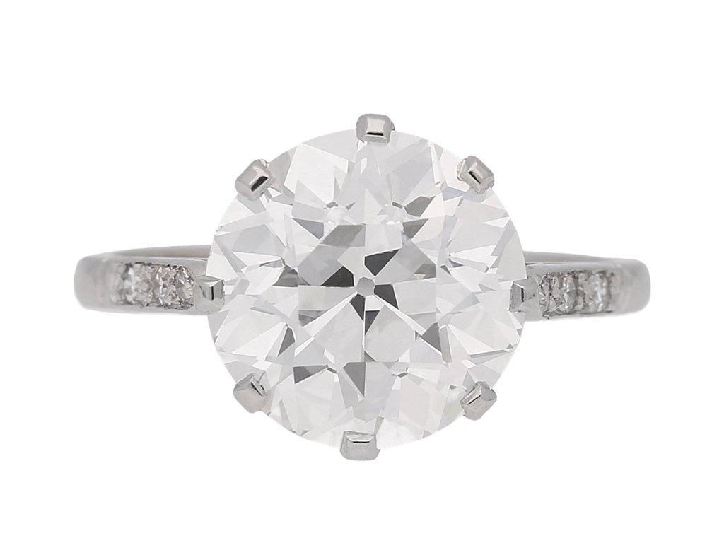 Solitaire old cut diamond ring  berganza hatton garden