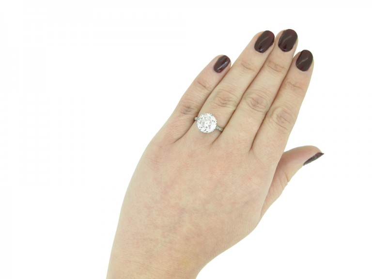 Solitaire old cut diamond ring  berganza hatton garden