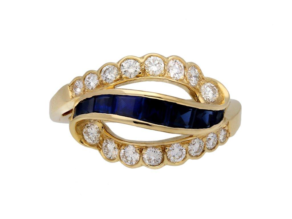 sapphire diamond ring Oscar Heyman Brothers hatton garden berganza