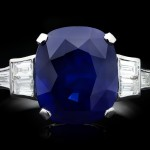 Art Deco Royal Blue Ceylon sapphire and diamond ring, circa 1935.