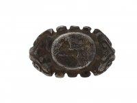 Ancient Roman silver ring chariot intaglio berganza hatton garden