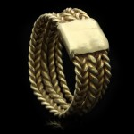 Saxon five bar braided ring, circa 6th-9th century AD.