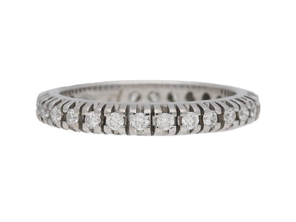 front view eternity diamond ring berganza hatton garden