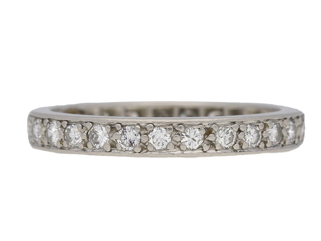 front view eternity diamond ring berganza hatton garden