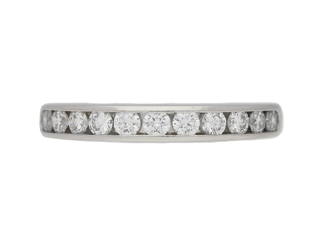 front view Diamond half eternity ring Tiffany & Co berganza hatton garden