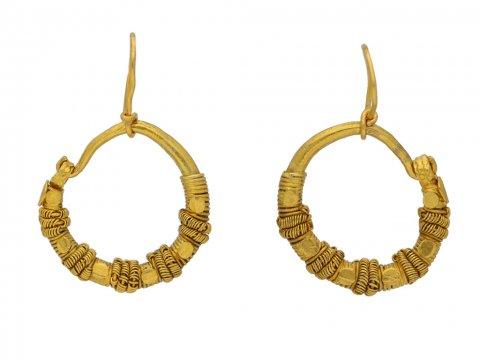 Ancient Greek wirework earrings berganza hatton garden
