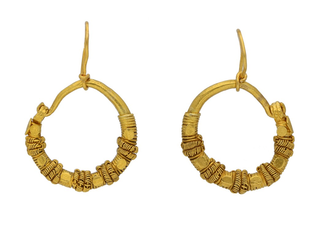 Ancient Greek wirework earrings berganza hatton garden