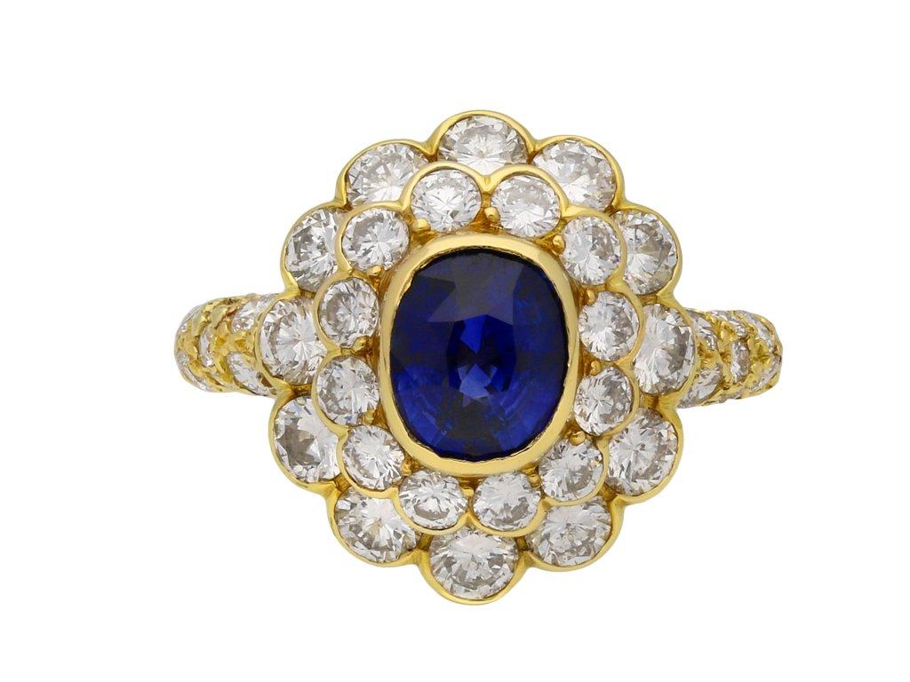Mauboussin Ceylon sapphire diamond ring hatton garden berganza