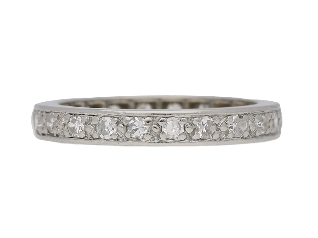 front view Diamond set eternity ring, French, circa 1950. berganza hatton garden