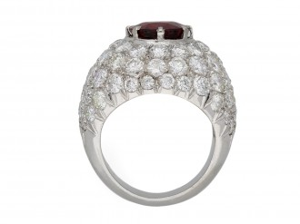 Ceylon spinel and diamond cocktail ring berganza hatton garden