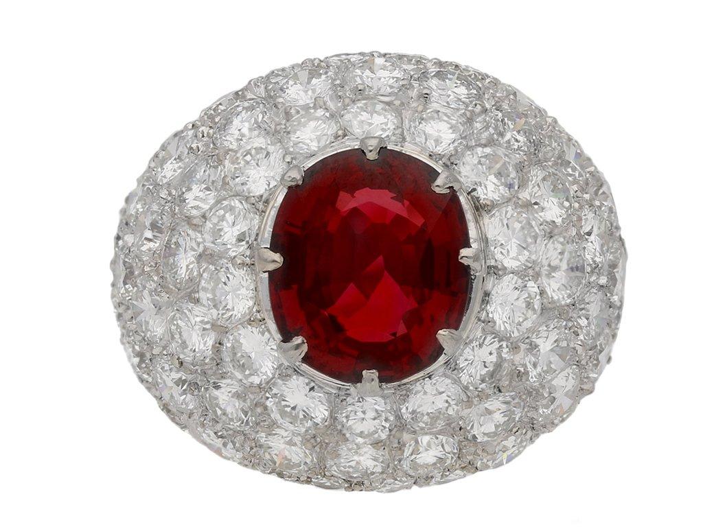 vintage spinel diamond cocktail ring garden berganza