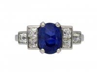 Vintage Burmese sapphire and diamond ring hatton garden berganza