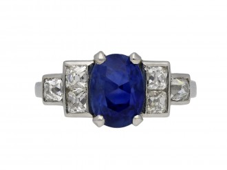 Vintage Burmese sapphire and diamond ring hatton garden berganza