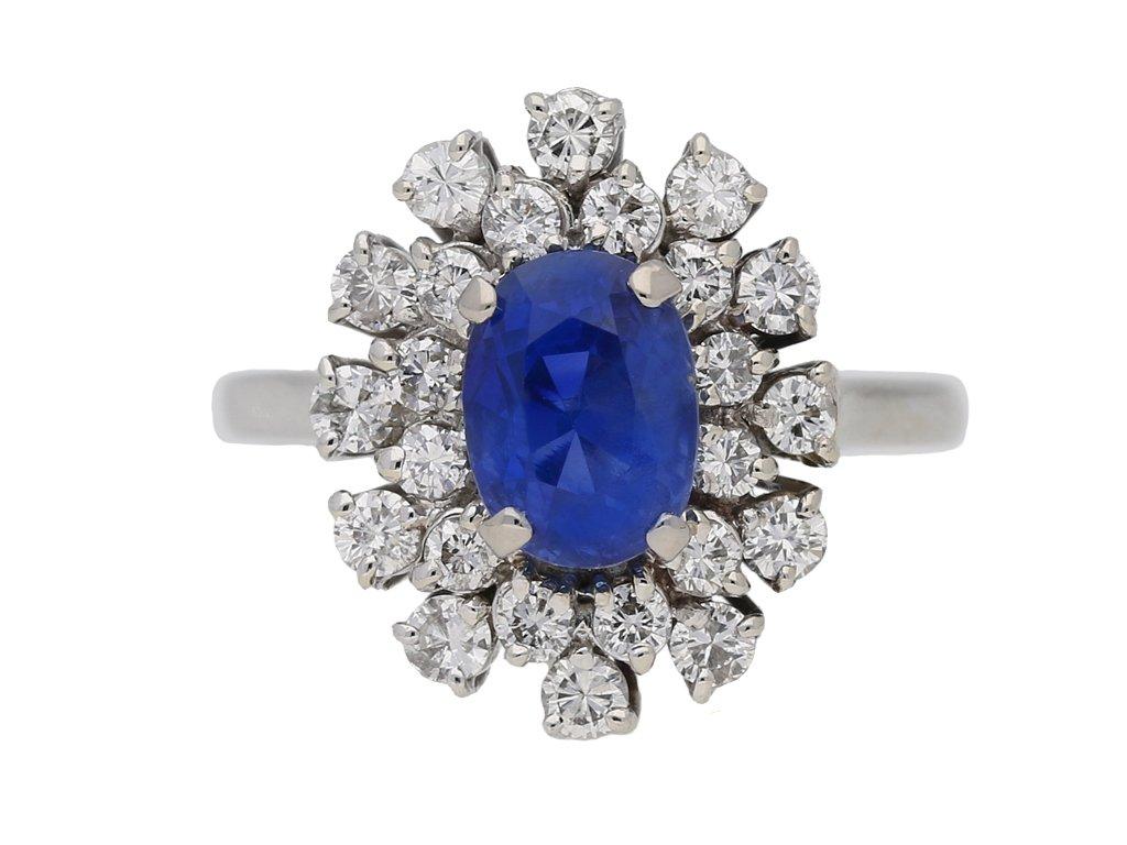 vintage Burmese sapphire diamond ring berganza hatton garden