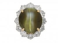 Oscar Heyman Brothers chrysoberyl diamond ring berganza hatton garden