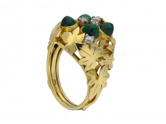 Emerald and diamond dress ring berganza hatton garden