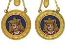 Egyptian Revival micro mosaic earrings berganza hatton garden