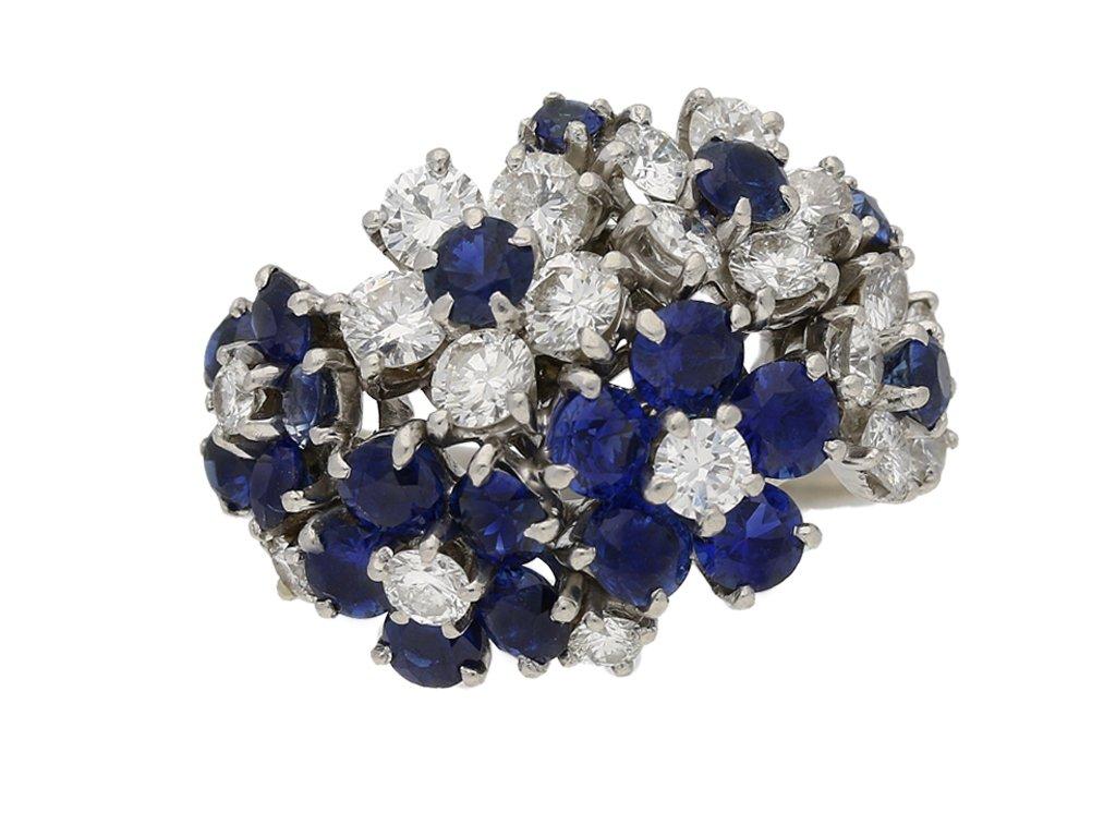 vintage diamond sapphire caldwell ring hatton garden berganza