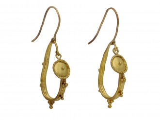 Ancient Roman gold hoop earrings hatton garden berganza