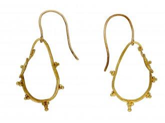 Ancient Roman gold hoop earrings hatton garden berganza