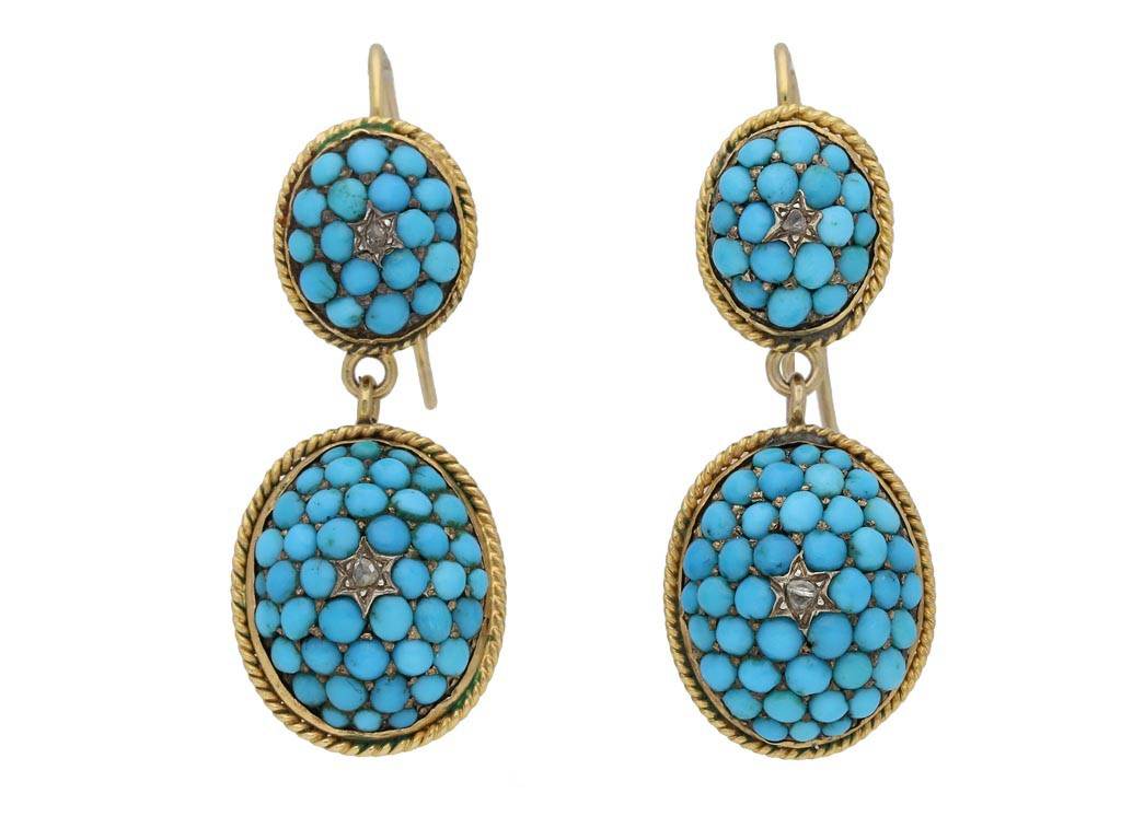 antique turquoise earrings berganza hatton garden