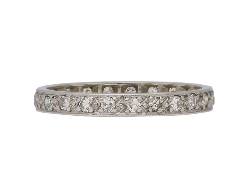 antique Diamond set eternity ring berganza hatton garden