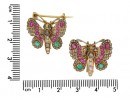 pair Victorian gem set butterfly brooches berganza hatton garden