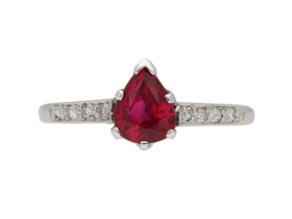 vintage Burmese ruby diamond ring hatton garden berganza