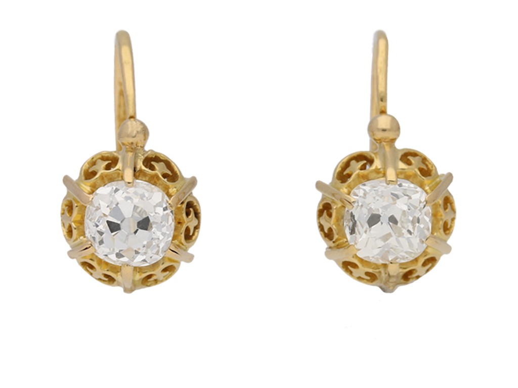 antique diamond drop earrings berganza hatton garden