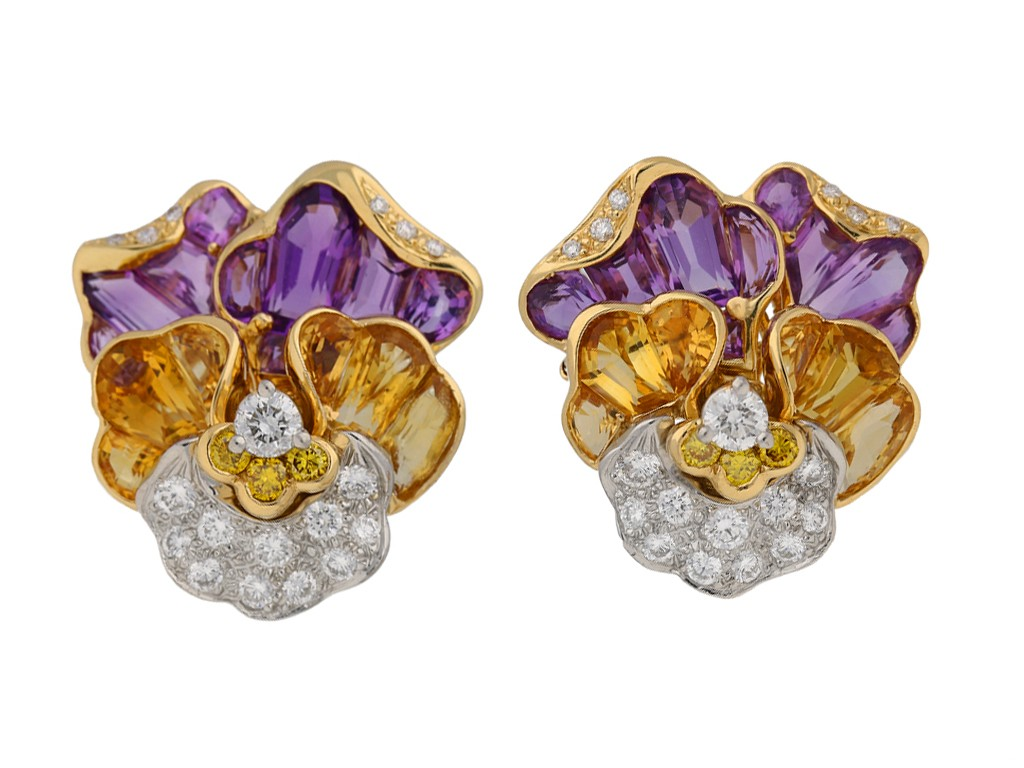 Oscar Heyman Brothers earrings berganza hatton garden