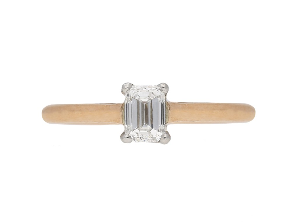 vintage Solitaire diamond ring berganza hatton garden
