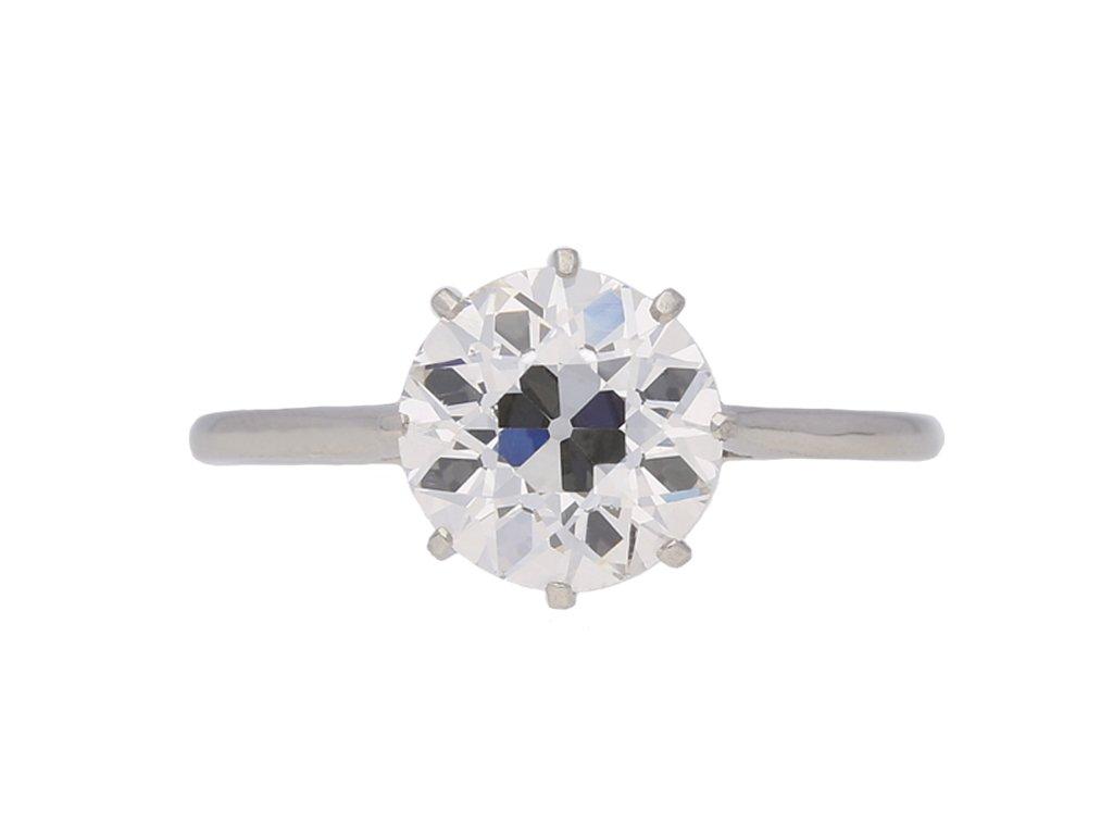 Solitaire old cut diamond engagement ring berganza hatton garden