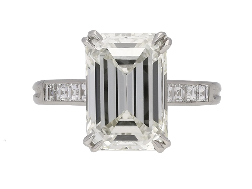 Vintage emerald cut diamond ring hatton garden berganza