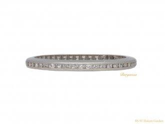 front voew Channel set diamond eternity ring berganza hatton garden