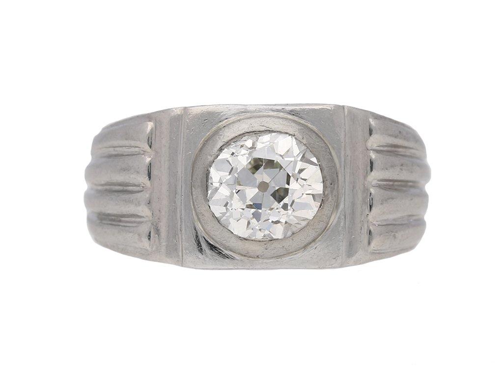 front view art deco diamond ring hatton garden berganza