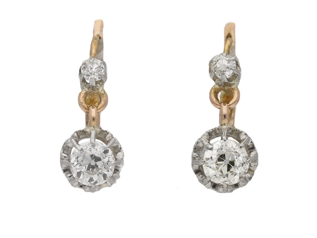d80f9817e2021e Diamond drop earrings, French, circa 1905 | Ref 22805