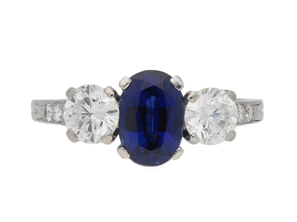 front tiffany diamond sapphire ring berganza hatton garden