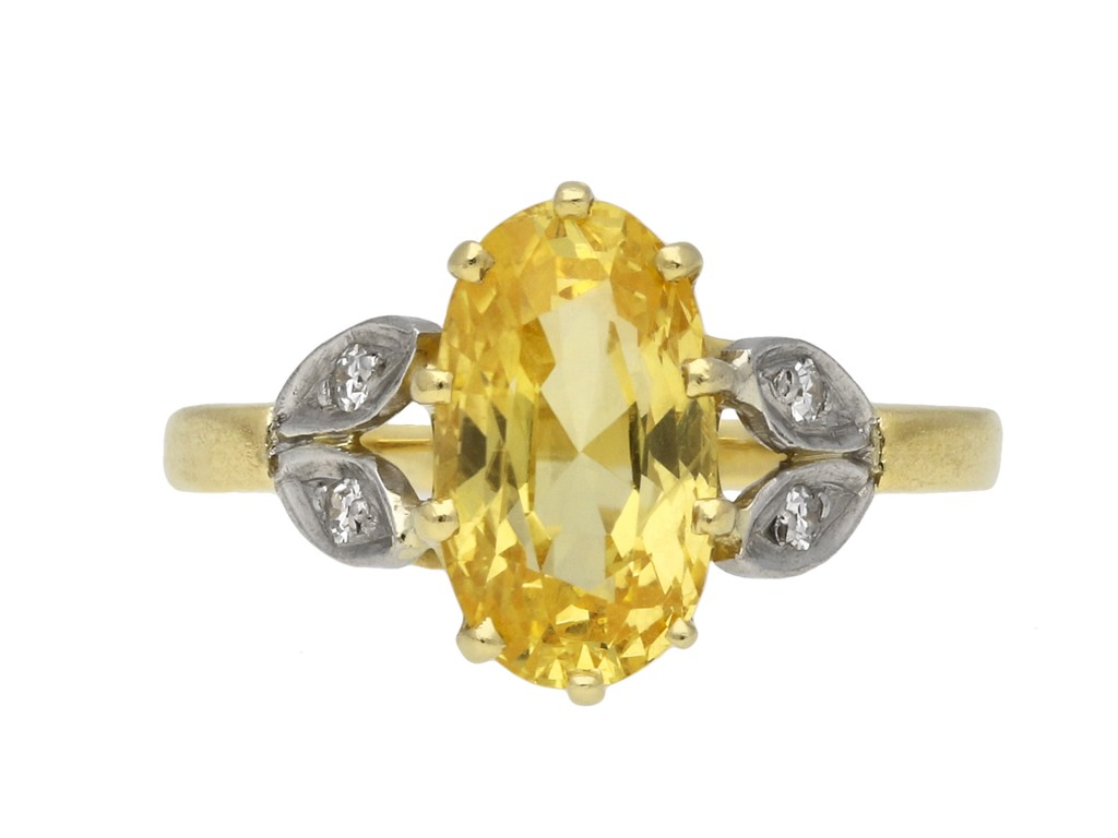 Yellow sapphire and diamond ring hatton garden berganza