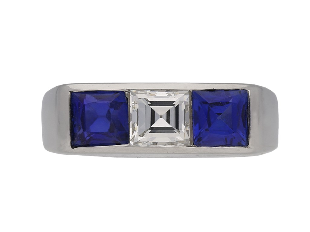 Cartier Diamond sapphire ring hatton garden