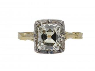 Victorian old mine diamond solitaire ring berganza hatton garden